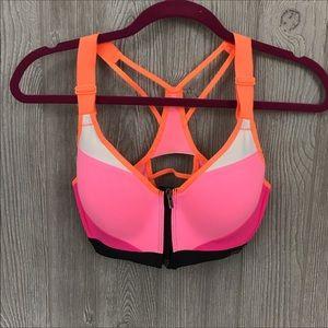 Victoria's Secret sport bra 32c zip front